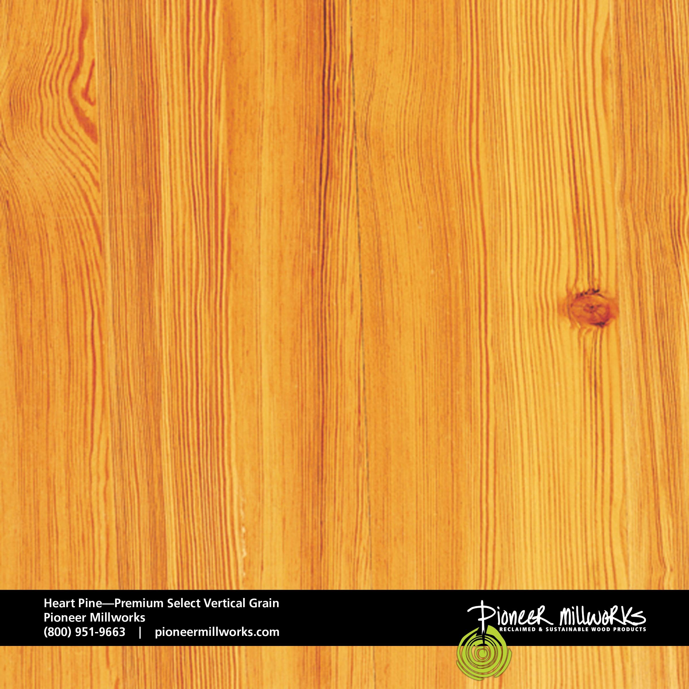 Heart Pine Premium Select Vertical Grain Pioneermillworks