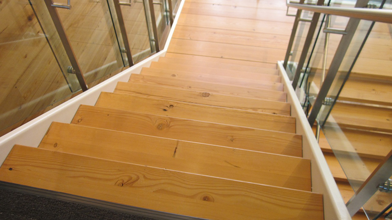 Pioneer Millworks Reclaimed Wood Stairs In Douglas Fir