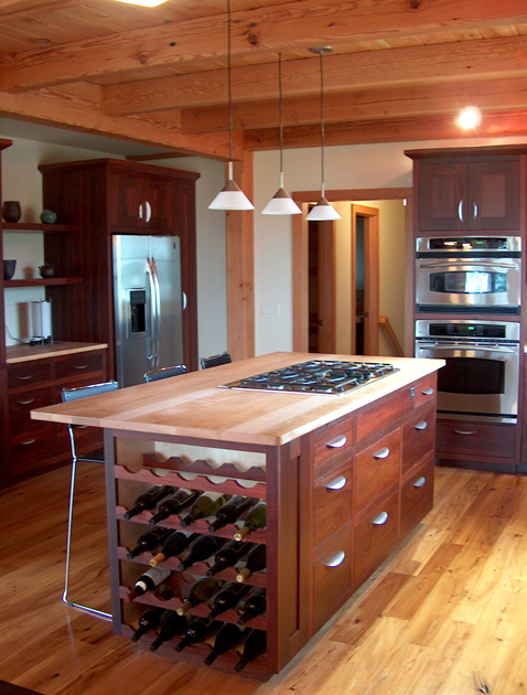 Pioneer Millworks Reclaimed Beech Counter Top on Reclaimed Karri Cabinetry
