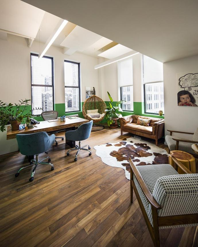 Pioneer Millworks Reclaimed Teak at Vita Coco in NYC