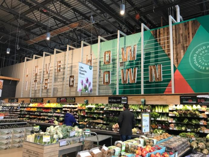 If you're not familiar with Whole Foods, they're an award-winning national grocer with a solid ethos and product focus on natural and organic foods. The stores are an experience, each one unique–any chance we have to visit one, we take it!