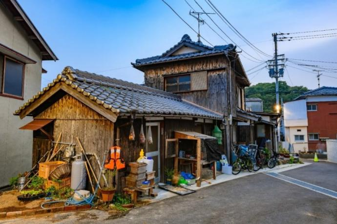 "A historically preserved residence in Shodoshima. I purchased this image from https://www.dreamstime.com/kagawa-japan-july-historical-local-wooden-house-shodoshima-island-wooden-historical-residential-house-shodoshima-island-kagawa-image158706125 I'd like to fancy it up with words like ""small fisherman's market"" or something to make it precious."