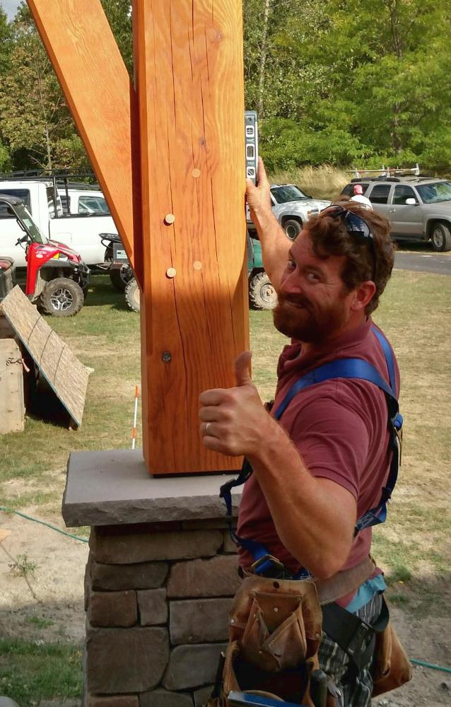 "Be sure you have a level that's of good size for the project you're taking on. Long-time carpenter and project manager, Kevin, gave us a good laugh by checking a timber with his ""handy"" level."