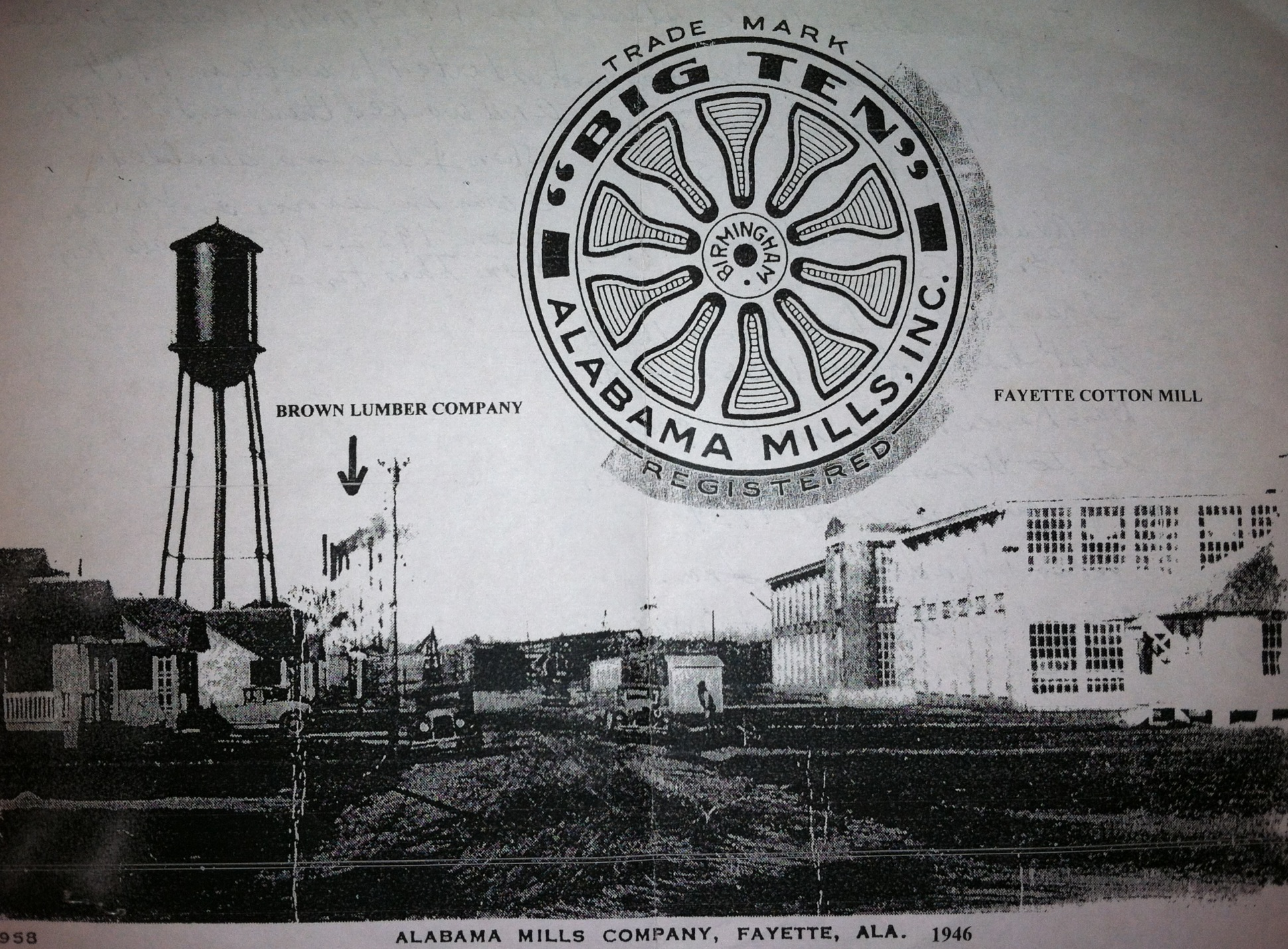 old photo of the Fayette Cotton Mill