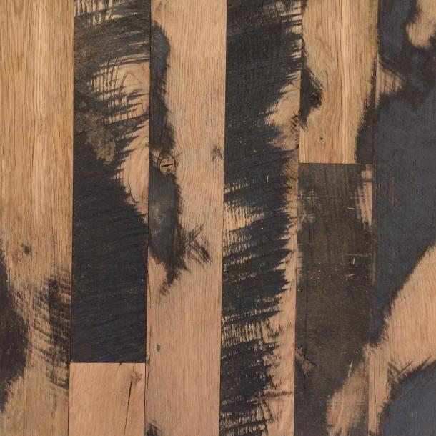Pioneer Millworks reclaimed wood--Mixed Oak 50/50--Black & Tan