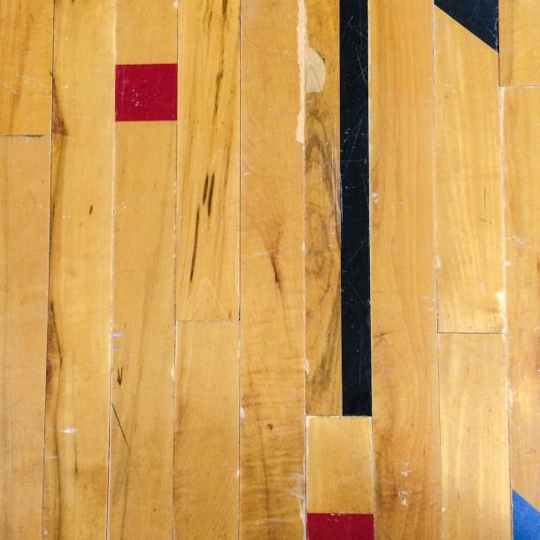 Pioneer Millworks reclaimed wood--Original Gym Flooring