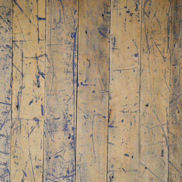 Pioneer Millworks reclaimed wood--Foundry Maple--Painted and Sanded--with custom blue finish