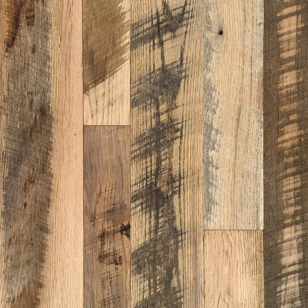Pioneer Millworks reclaimed wood--Mixed Oak--Settlers' Plank