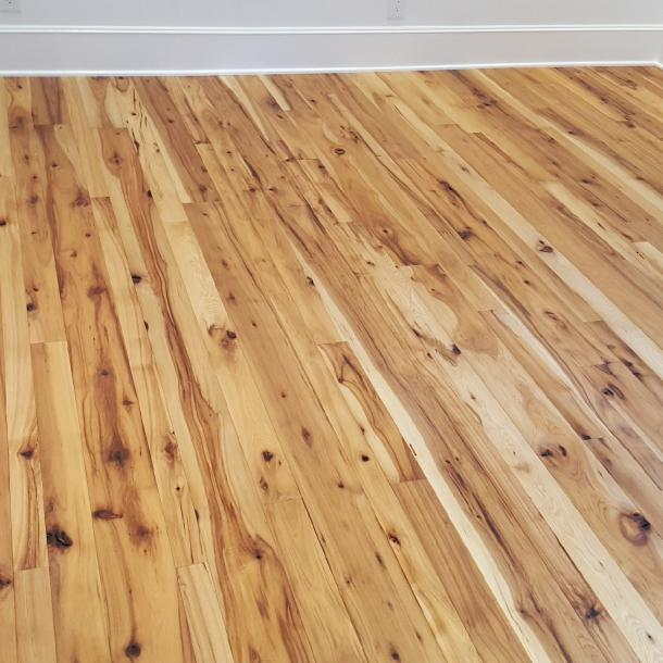 American Gothic Hickory reclaimed wood flooring installed in a North Carolina Home