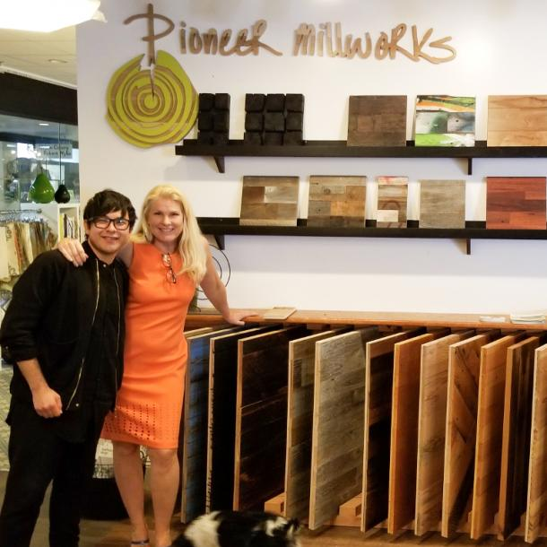 Pioneer Millworks Reclaimed and Sustainable Wood Products are now available to view at Hospitality! in Los Angeles, California.