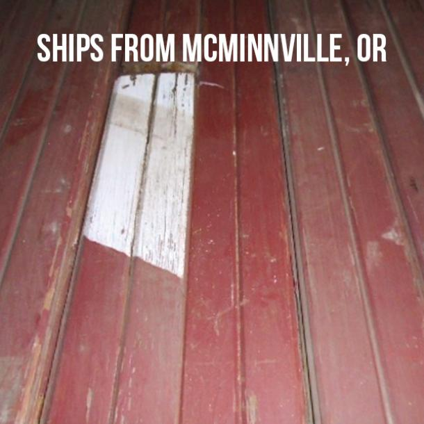 Pioneer Millworks Reclaimed Barn Siding with Red Paint and V-groove--$4.95/sf--FOB McMinnville, OR