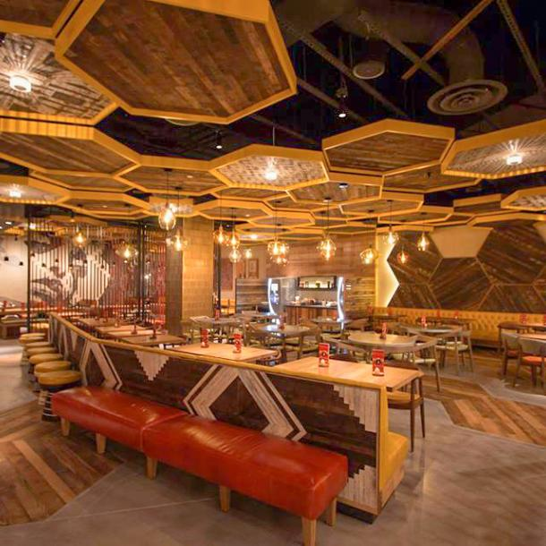 Pioneer Millworks Reclaimed Wood Setters' Plank Ceiling
