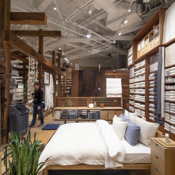 Pioneer Millworks as found Douglas fir timbers and American Prairie Brown Board reclaimed wood wall paneling