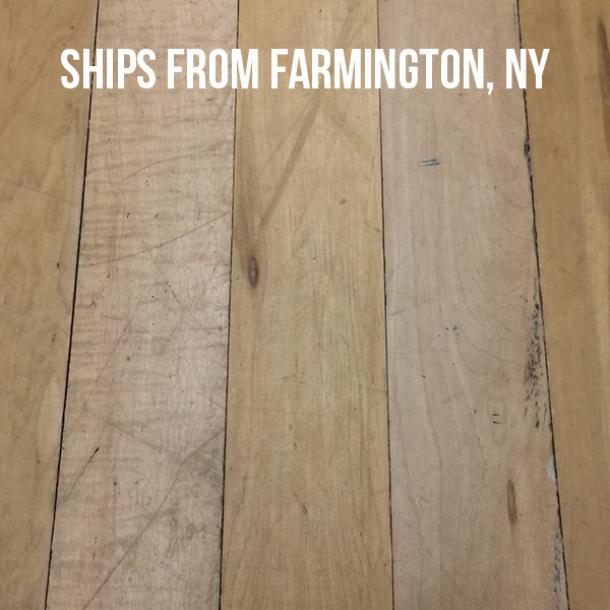Pioneer Millworks Reclaimed Gym Flooring Brethren Batch No Color Fob Farmington Ny