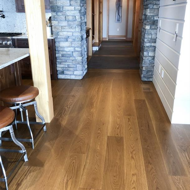 Pioneer Millworks Modern Farmhouse Clean White Oak with a Walnut Rubio Finish