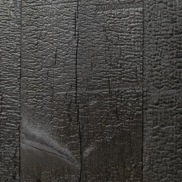 Sustainable wood--Shou Sugi Ban--Deep Char--Charred larch wood for paneling and siding Pioneer Millworks