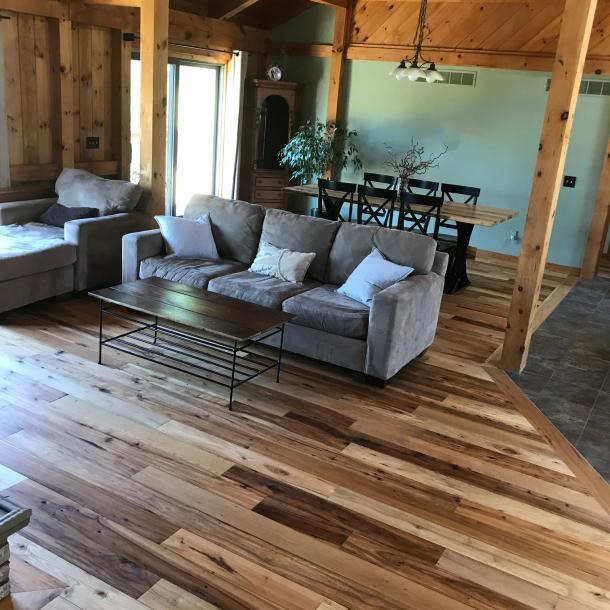 Pioneer Millworks reclaimed American Gothic Mixed Hardwoods Flooring