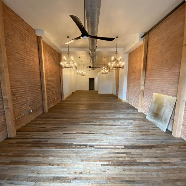 Pioneer Millworks Case Tractor Factory Foundry Maple flooring––Private Residence