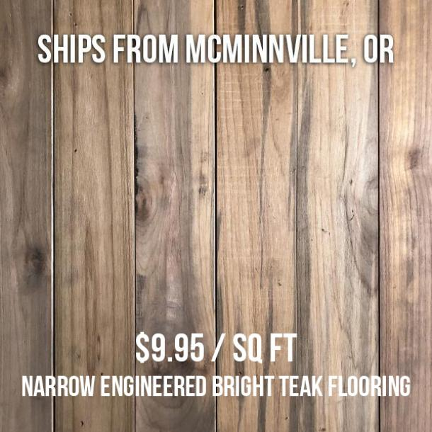 Pioneer Millworks reclaimed Indonesian Teak—1460 sq ft—FOB McMinnville, OR