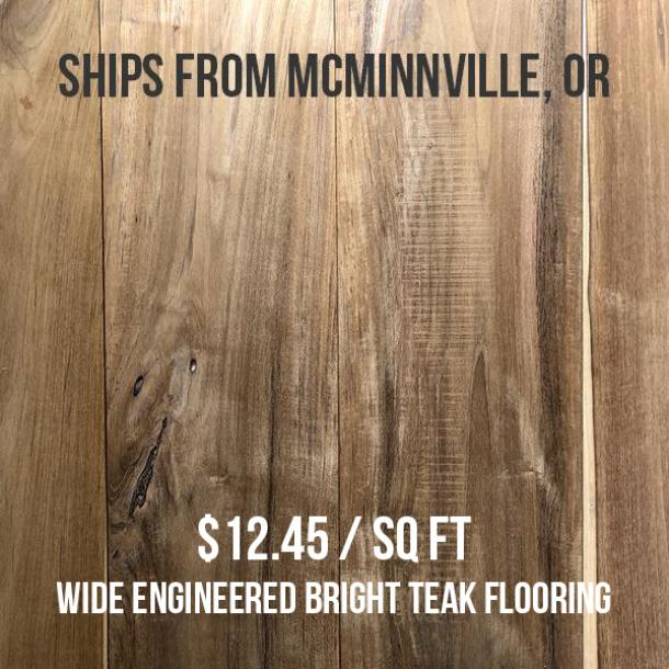 Pioneer Millworks reclaimed Indonesian Teak—440 sq ft—$12.45 sq ft—FOB McMinnville, OR
