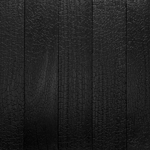 Shou Sugi Ban ACCOYA Deep Char by Pioneer Millworks. Black wood siding and paneling that is burned and coated with non-toxic, water-based polyurethane