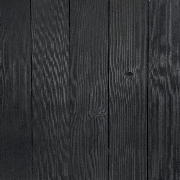 Shou Sugi Ban Douglas Fir Carbon | 1 by Pioneer Millworks. Charred wood siding and paneling that is burned, brushed once, and coated with non-toxic, water-based polyurethane