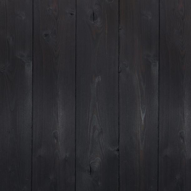 Shou Sugi Ban Larch Toasted | 1 by Pioneer Millworks. Charred wood siding and paneling that is burned, brushed once, and coated with an exterior oil