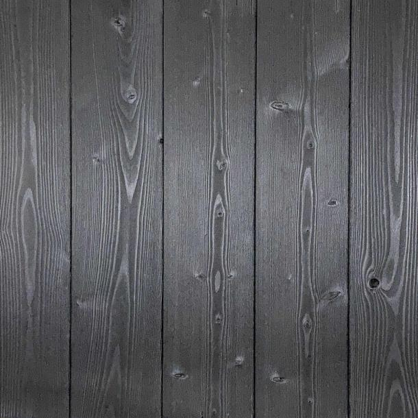 Shou Sugi Ban Larch Carbon | 1 by Pioneer Millworks. Charred wood siding and paneling that is burned, brushed once, and coated with non-toxic, water-based polyurethane