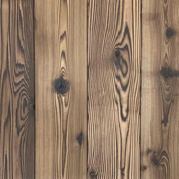 Shou Sugi Ban Western Red Cedar Undressed | 2 by Pioneer Millworks. Charred wood siding and paneling that is burned, brushed twice, and left unfinished
