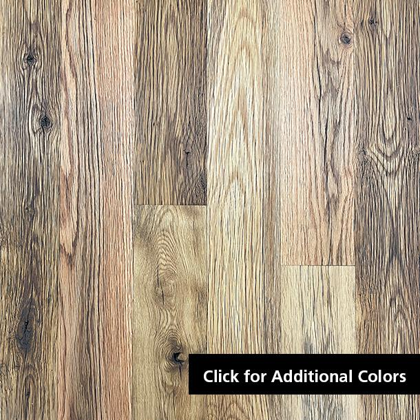 Pioneer Millworks reclaimed wood--Mixed Oak Tan--Black & Tan