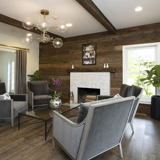 Pioneer Millworks American Prairie Brown Board Paneling. Photo courtesy of Doreen Wynja.