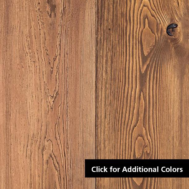 Pioneer Millworks Larch Select Exterior Siding—Circle Sawn, Light Brown Finish
