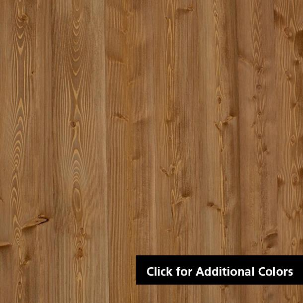 Pioneer Millworks Larch Standard Exterior Siding—Wire Brushed, Light Brown Finish