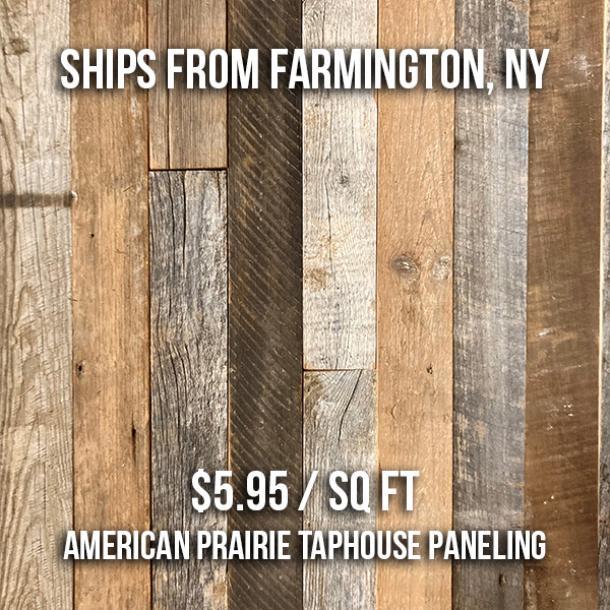 American Prairie Taphouse Paneling