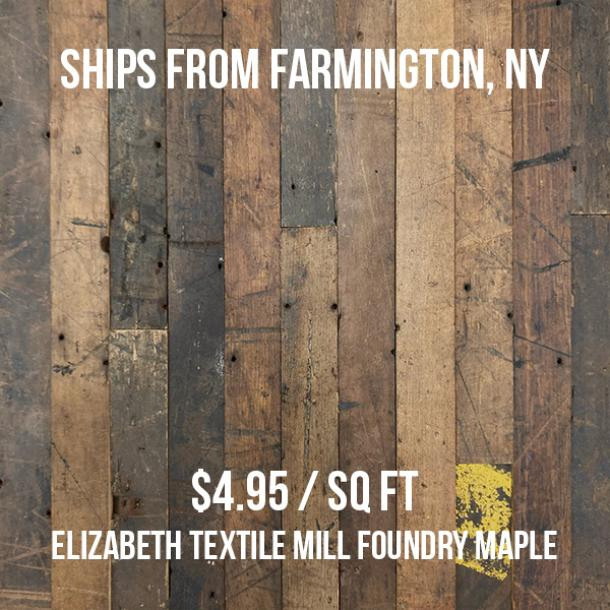 Elizabeth Textile Mill Foundry Maple—1012 sq ft—Unfinished
