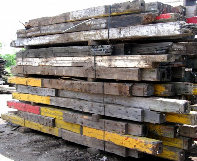 Pioneer Millworks reclaimed timbers--As-found Industrial