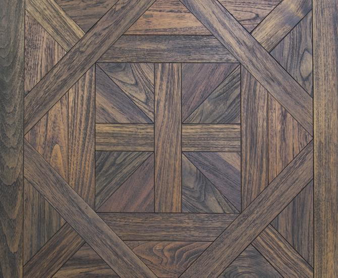 Pioneer Millworks Reclaimed Indonesian Teak Ready-made Panels, Versailles Pattern