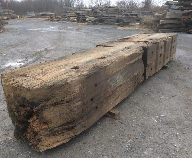 Pioneer Millworks reclaimed Welland Canal Timbers, Ontario, Canada--Timber #1--Batch #2818