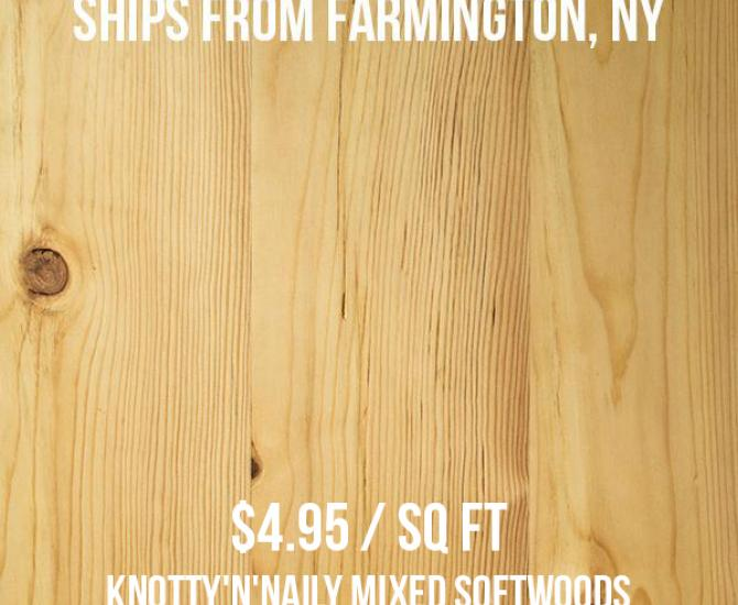 Pioneer Millworks Knotty N Naily Mixed Softwoods—Batch F9190