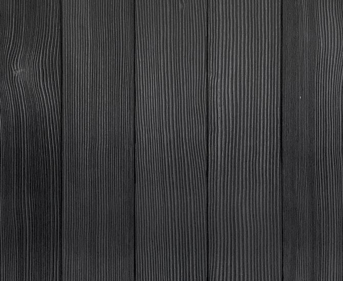 Shou Sugi Ban Douglas Fir Carbon | 2 by Pioneer Millworks. Charred wood siding and paneling that is burned, brushed twice, and coated with a non-toxic, water-based polyurethane